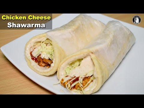 Chicken Cheese Shawarma Recipe - Without Oven Shawarma Bread and Tahini Sauce - Kitchen With Amna