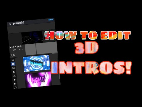 How to make 3D intros in panzoid using android phone