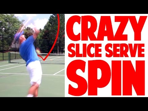 Tennis Slice Serve Cheat For Crazy Spin Even If Beginner