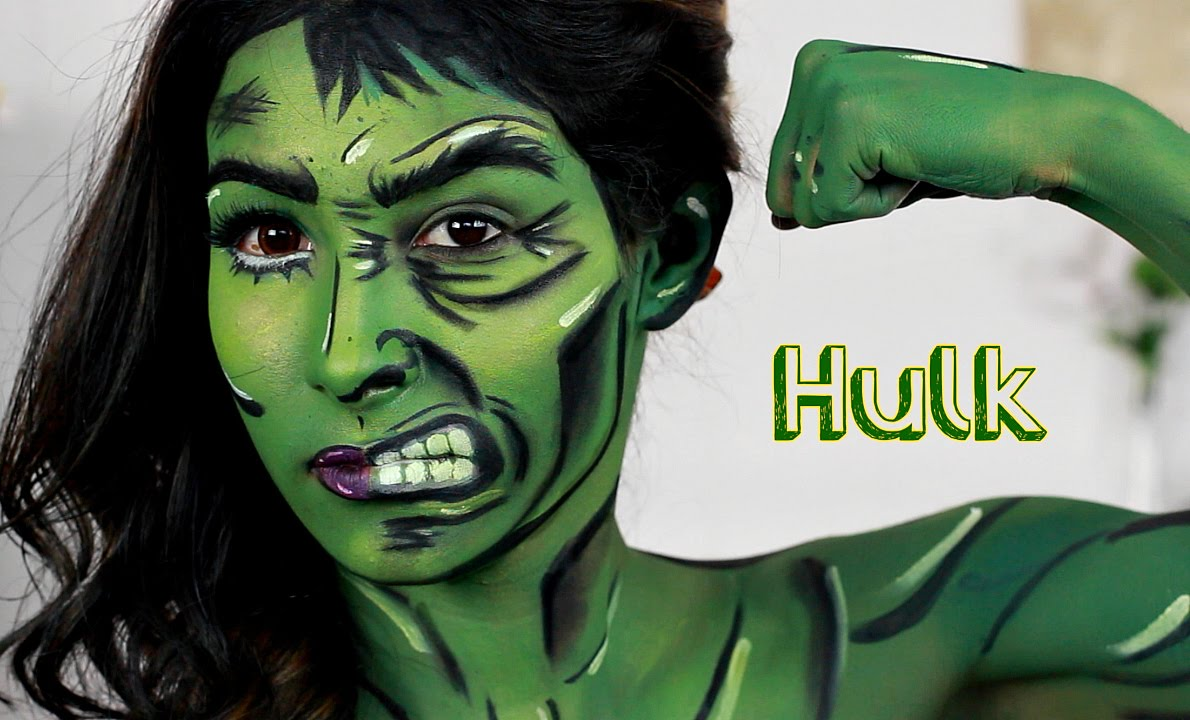 She Hulk Hulk Makeup Tutorial Nyx Face Awards Youtube