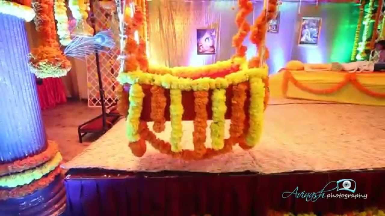 Theme based decoration for cradle ceremony 2015 event by for Baby name ceremony decoration