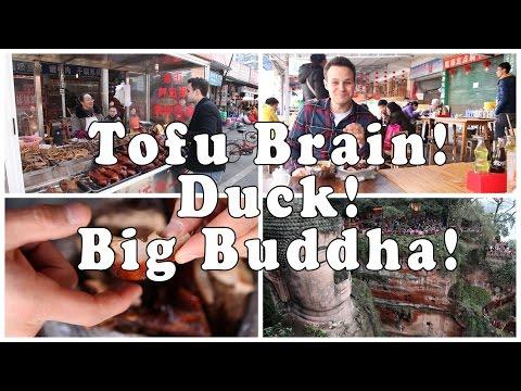 Real Chinese Food | Tofu Brain | Sweet Skin Duck | World's largest Buddha!
