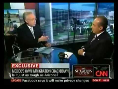 Pres Calderon interview w Wolf Blitzer