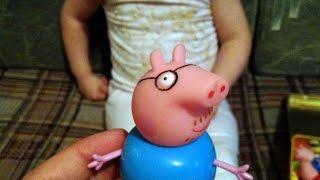Катя и игрушки(Играем в игрушки свинка пеппа, peppa pig, смешарики, kikoriki, маша и медведь, пони, my little pony, киндер, surprise eggs, смурфики,..., 2015-06-02T11:25:50.000Z)