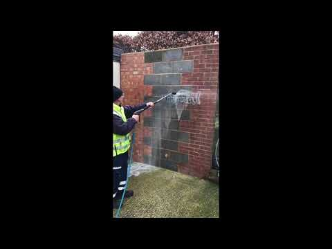 How To Remove Graffiti From A Brick Wall | Graffiti Removal