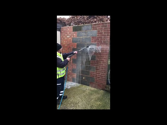 How To Remove Graffiti From A Brick Wall | Graffiti Removal Ltd