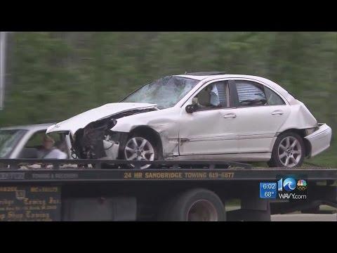 Chase leads to vehicle crash at Dam Neck