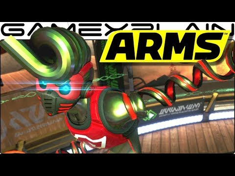New Challenger: Springtron Gameplay - ARMS 3.2 Update
