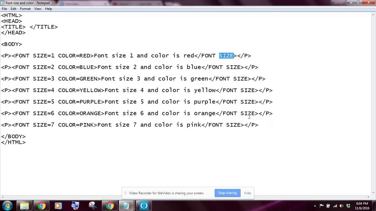 Lesson 13 Google Sites Font Size and Color