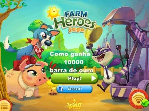 Como ganha 1000000 barra de ouro no seu farm heroes saga