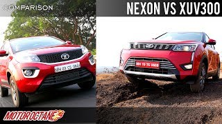 Mahindra XUV300 vs Tata Nexon Comparison | Hindi | MotorOctane
