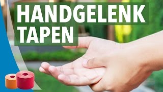 Kinesiology Tape Anleitung: Handgelenk, Allgemein 1