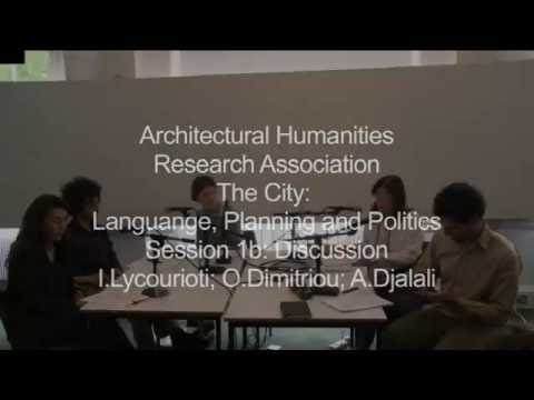 2011 05 14 VARIOUS Architectural Humanities Research Association The City   Language, Planning and P