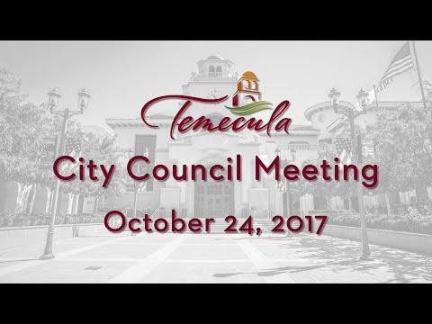 Temecula City Council Meeting - October 24, 2017