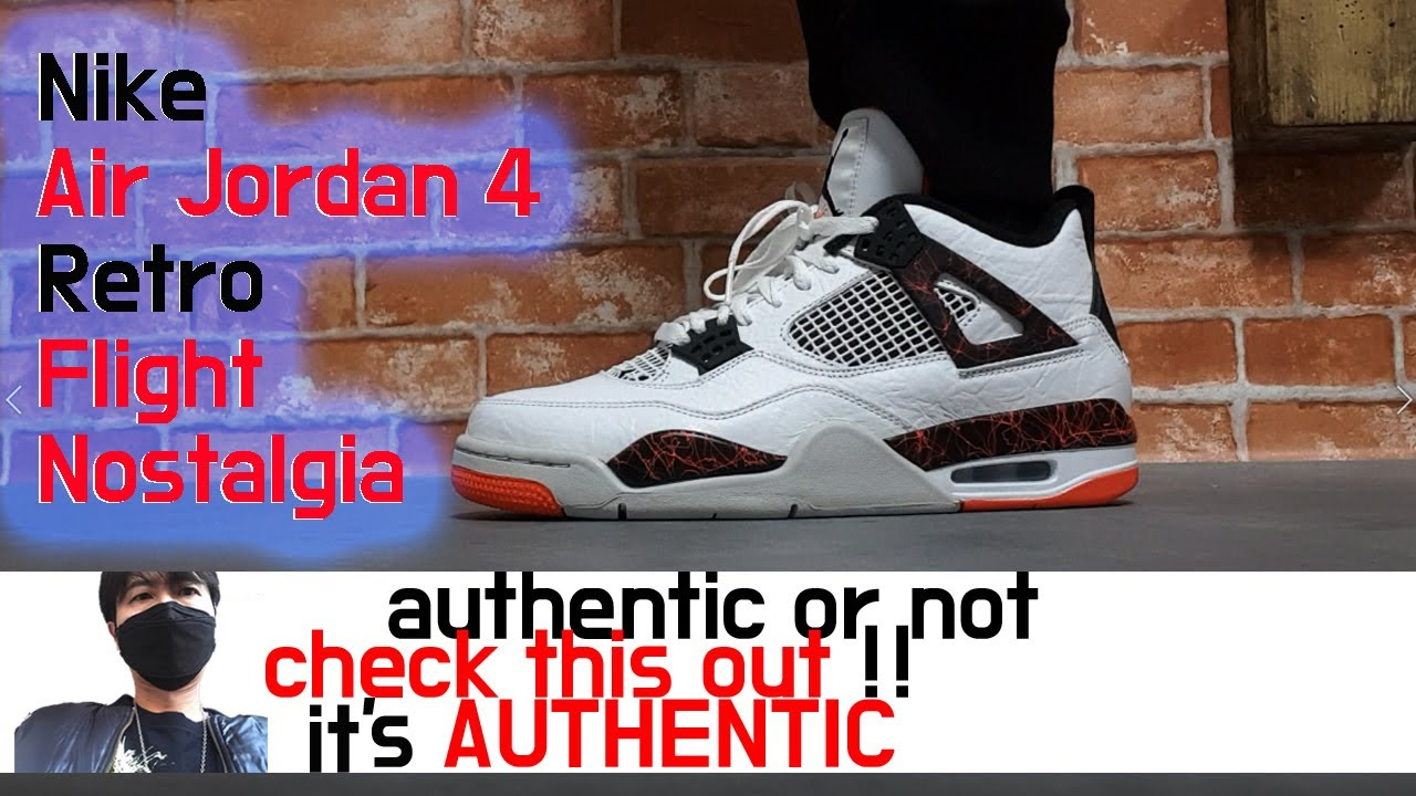 64046faf9d4 Nike Air Jordan 4 Retro Flight Nostalgia unboxing review - YouTube