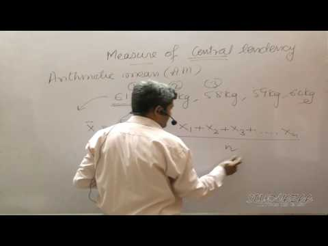 001 Statistics - Measures of Central Tendency - Arithmetic Mean