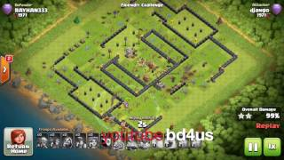 Clash of Clans Legends of BD DJANGO| Clash with khadiza| 3star Miner attack|