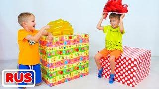 Влад и Никита выбирают подарок для Ромы