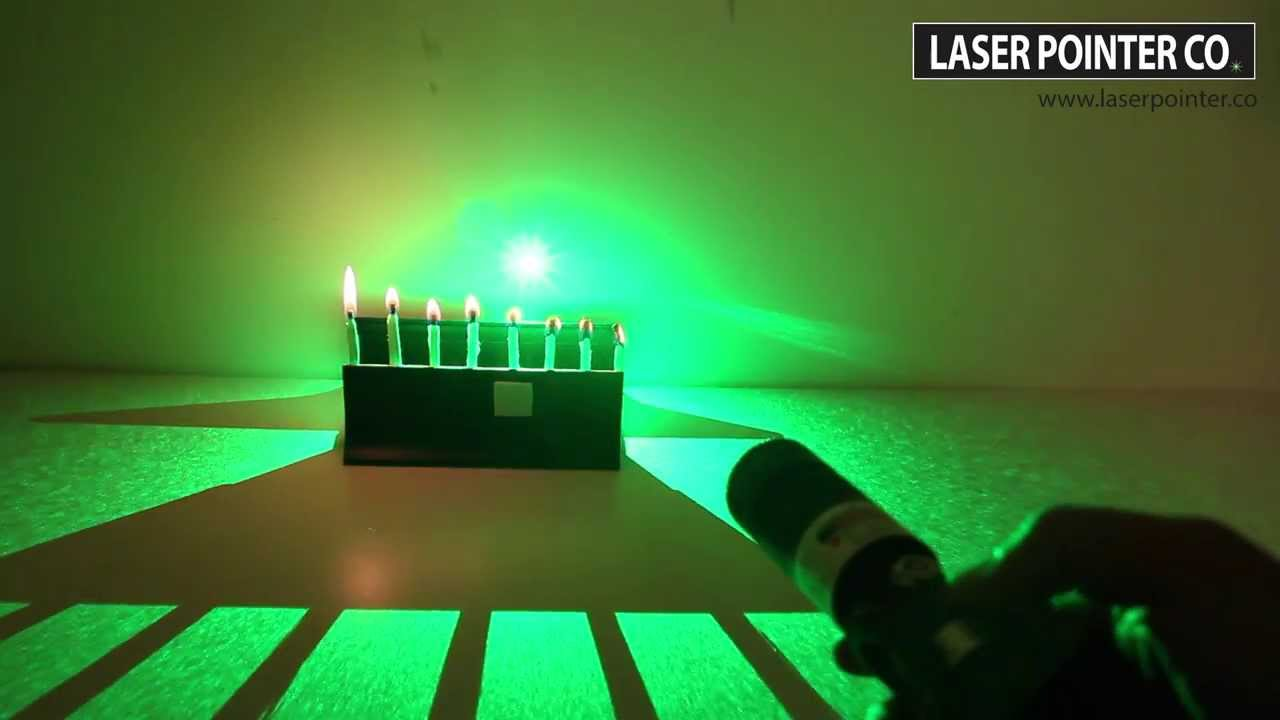1bb3f4020a4 500mW 532nm Green Laser Pointer (Portable Series) Vs. Wooden Matches | SKY  Technologies Inc