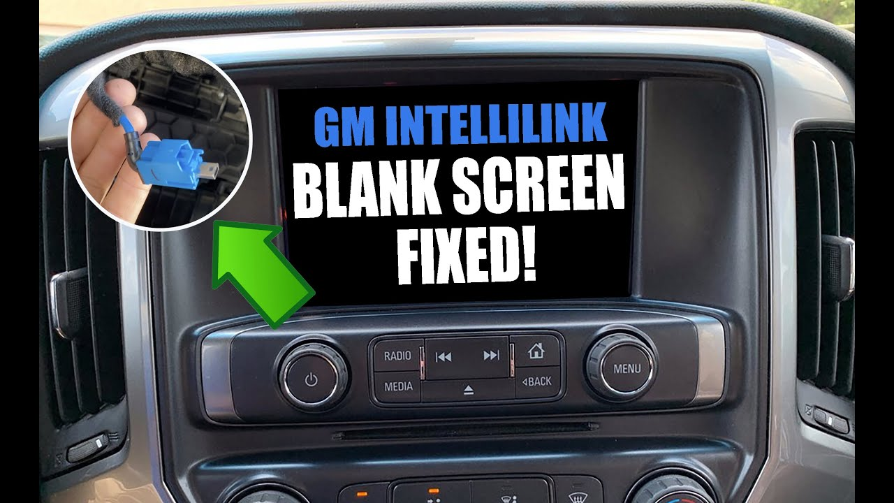 Fixed Gm Intellilink Display Blank Screen Flickering And