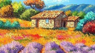 Уроки рисования маслом | рисование пейзажа от Артакадемия