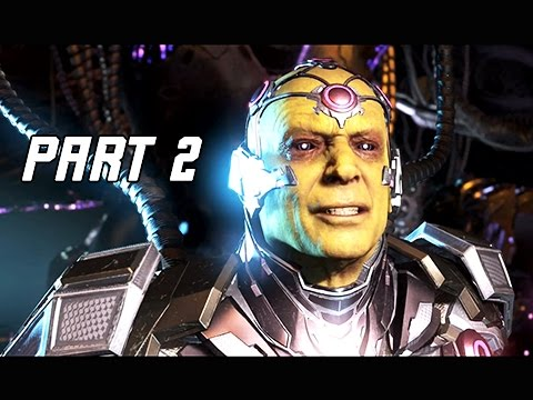 INJUSTICE 2 Walkthrough Part 2 - BRAINIAC (Story Mode Let's Play Commentary)