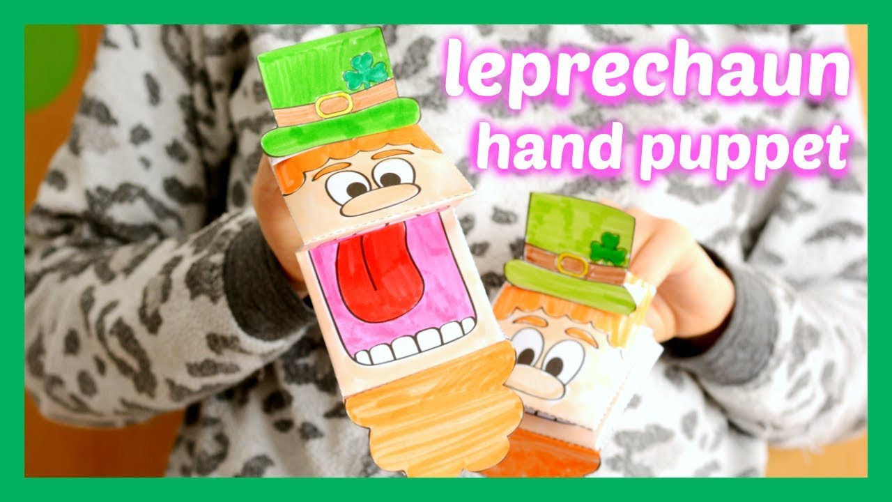 photo regarding Printable Leprechaun named Printable Leprechaun Puppet - St. Patricks Working day Game