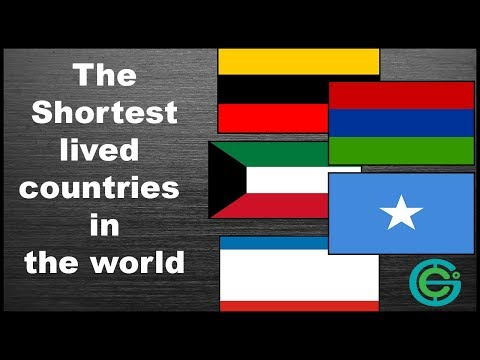 The Shortest lived countries in the world (Geography Now!)
