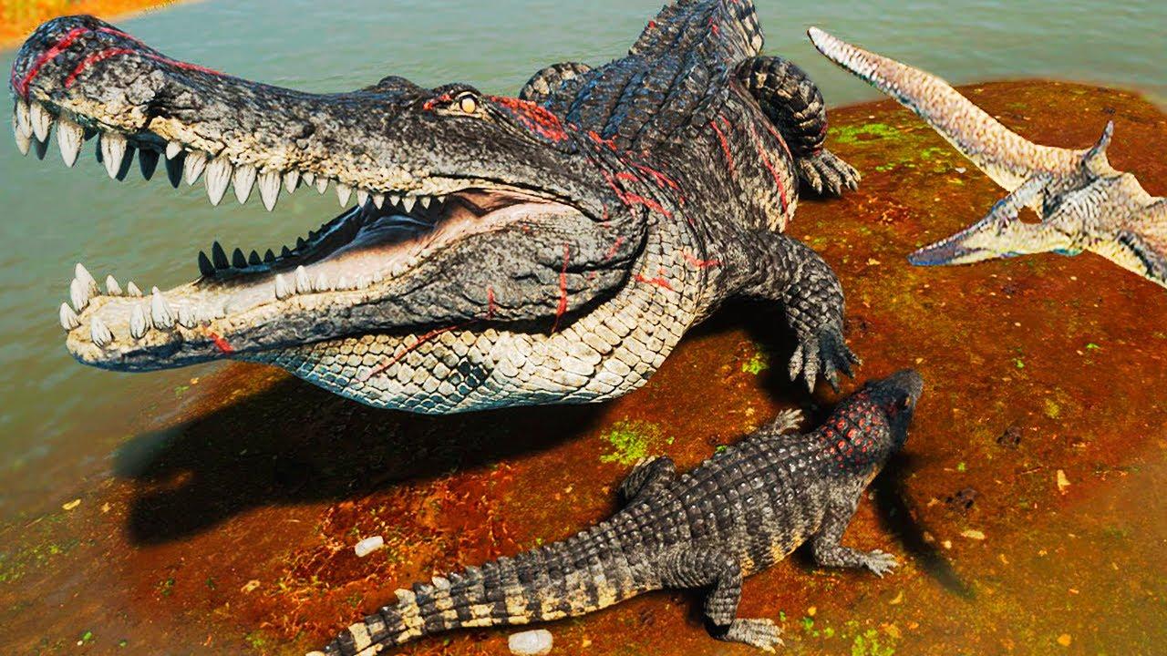 Download Entre Carnotauros e Estegossauros! Família de Deinosuchus + Grande Caçada   The Isle Evrima   PT/BR