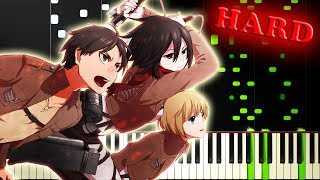 Скачать ATTACK ON TITAN SEASON 1 OP Guren No Yumiya 進撃の巨人 Piano Tutorial