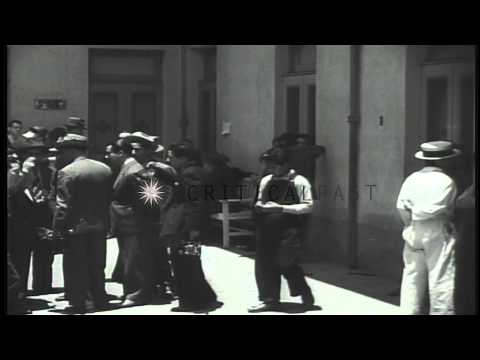 Leon Trotsky in hospital after mortal attack by Ramon Mercader. HD Stock Footage