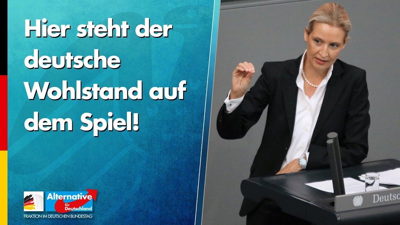 Deutscher Wohlstand steht auf dem Spiel! Alice Weidel -