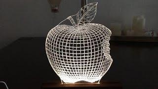 LED 3D Lampe aus Plexiglas