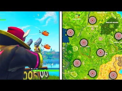 """Shoot a Clay Pigeon at different locations"" All Locations Fortnite Week 3 Challenges!"