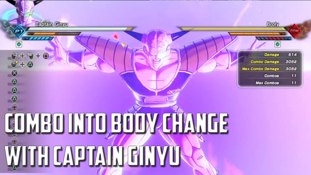 dragon ball xenoverse 2 stamina break body change combo with captain ginyu youtube. Black Bedroom Furniture Sets. Home Design Ideas