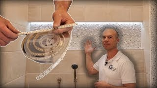 How to Install LED Lights In Shower Niche --- ACTUAL JOB!!