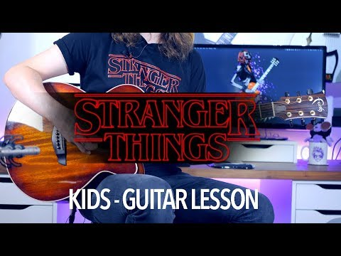 Kids - Stranger Things (Full Guitar Lesson) + TAB