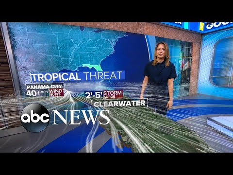Tropical storm barrels toward Florida l ABC News