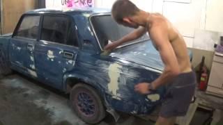 Подготовка к грунтованию авто