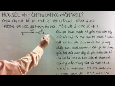 Học ôn thi đại học- Giải đề thi thử đại học sư phạm năm 2012 (40-1)