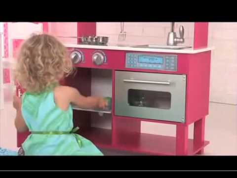 Girls Gracie Pink Pretend Toddler Play Kitchen Toy For