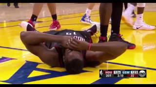 Draymond Green Kicks and Elbows James Harden in the FACE 12/1/2016 (ENTIRE PLAY)