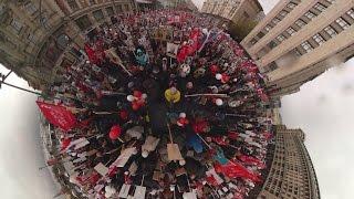 «Бессмертный полк» в 360  памятная акция в Москве