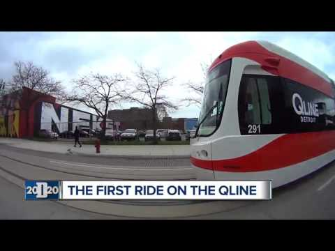 Watch as we gets the first ride on the QLINE through Detroit