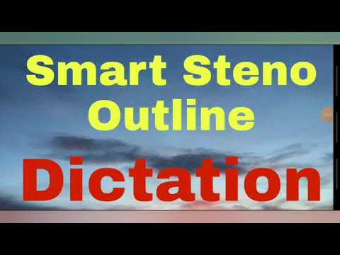 Steno Outline Dictation || SSC || DSSSB || RJ HIGH COURT ||