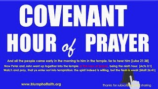 Covenant Hour of Prayer,  June 22, 2018
