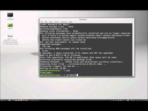 Convert RPM to DEB ( debian) package in Linux Mint 13/14 (Ubuntu) using Alien