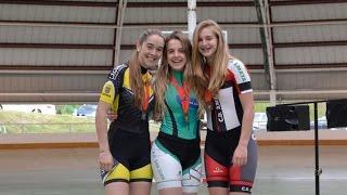 Patinaje velocidad Campeonato Navarro de pista 2016, final 1000 mtrs juvenil femenino