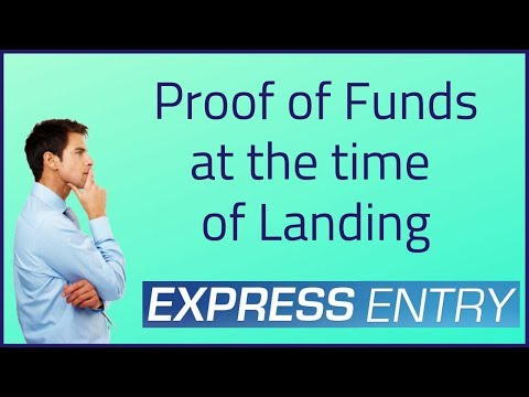 🇨🇦 Proof Of Funds At The Time Of Landing ?