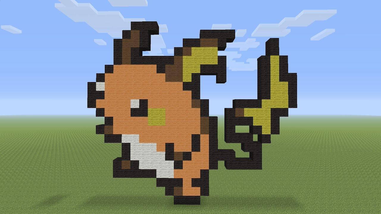 Minecraft Pixel Art Raichu Pokemon 026
